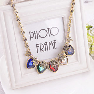 Packages-mail decorative necklace women fashion Korea best matching cropped sweater chain jewelry exaggerate Europe and the collar bone chain