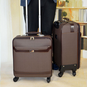 Cowhide business leather trolley case brand 20 board chassis universal wheel 24 inch female suitcase suitcase male