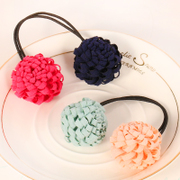 Know Connie hair accessories Korean version of the mesh sphere string rope hair rubber bands made by small fresh flowers jewelry