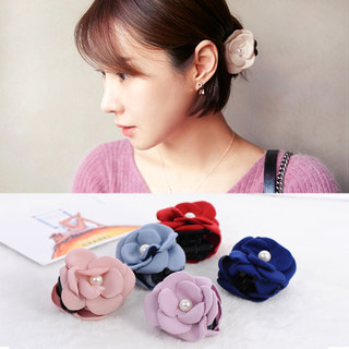 Know Richie Korean hair accessories small fields breathe sweet Pearl flowers trumpet fabric grab clips to grab hair ladies headwear