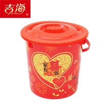 Wedding festive supplies wedding party dowry items dowry red bucket hi word bucket engagement plastic bucket