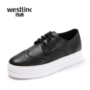 Westlink/West spring 2016 new Brock carved cake heavy bottom strap casual women's shoes
