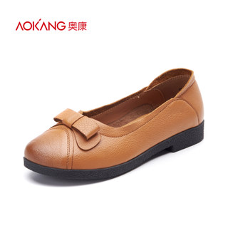 Aokang shoes asakuchi 2016 new spring flat comfortable women's shoes bow Sen-mail