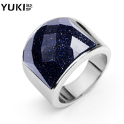 YUKI men''s titanium steel ring finger jewelry Korean exaggerated fashion rings original design
