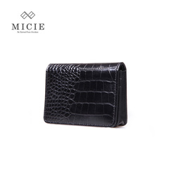Ms MICIE/beautiful city the first layer leather crocodile pattern business cards leather cards Pack