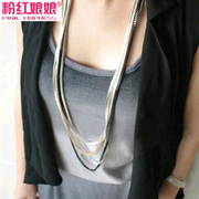 Pink goddess jewelry authentic multilayer chain necklace can be separated with a variety of band female pendant necklace