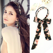 Know Richie accessories hair accessories Korean Ribbon Butterfly first hoop parallel bars, printing headband hairpin braided hair tiara headband