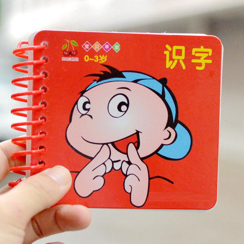 宝宝幼儿童无图识字卡片早教学习全套拼音数字
