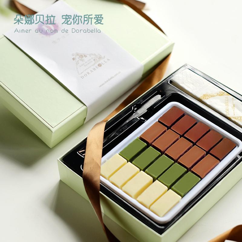朵娜贝拉生巧克力礼盒装送女友手工黑松露抹茶情人节生日礼物零食