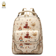 Amoy fall/winter fashion 2015 schoolbag backpack new Korean wave cartoon graffiti women Pu leather shoulder bag handbag