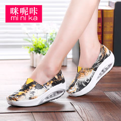 MI Ka fall 2015 carp canvas shake female graffiti shoes leisure shoes platform lazy shoes sport shoes women
