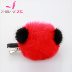 Zhijiang plush hair clips Duckbill clip Korea cartoon cute bangs hair clip Lady children''s head Sable hair accessories
