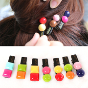 Know Connie hair accessories Korean version of the lovely chocolate colored sugar pea hair clips color half side clamp Duckbill clamp