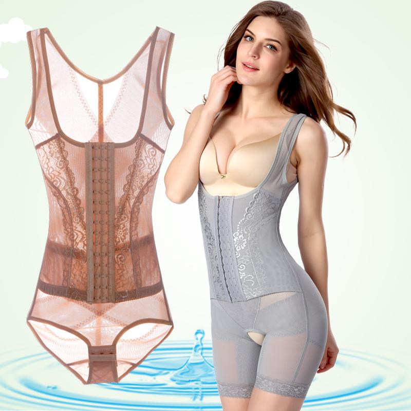 薄款连体塑身衣产后减肚子无痕收腹束腰瘦身衣塑身内衣加强束身衣