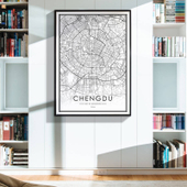 Modern City Line Framed Prints