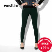 West fall 2015 new female trousers retro casual simple slim soft and slightly elastic waist dress in tight pants