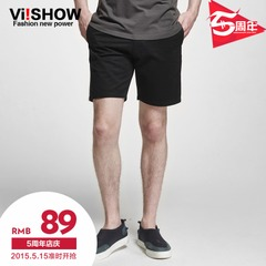 New viishow2015 summer shorts men in Europe, five simple solid color Shorts Pants pants men