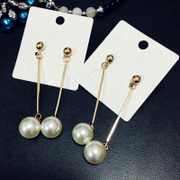Cool na Korean jewelry Pearl tassel earrings earrings Korean temperament long fashion earring earrings 3030