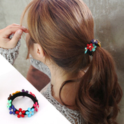 Know Richie Lady color for fall/winter Korean flower ring headdress seamless elastic hair band hair rope accessories