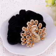 Fine jewelry rings Korea Korean hair headdress rope ponytail hair accessories hair band flower head rope