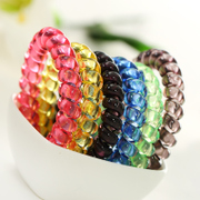 Know Connie hair accessories Korean large translucent phone phone line ring rope ring band jewelry leather string