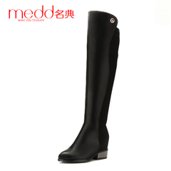 Name code 2015 winter new style skinny legs stretch high boots over the knee boots pointed toes chunky heels tall tube boots woman