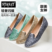 2015 new shallow, circular head on Saturday with comfortable and shiny shoes women shoes SN51119201