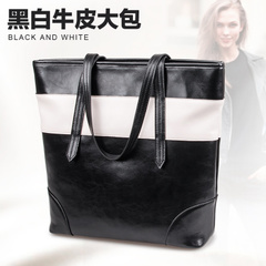 2015 new summer shoulder bag leather ladies fashion Europe surge capacity for large bag handbag