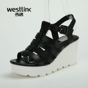 Westlink/West met with genuine leather ladies sandals