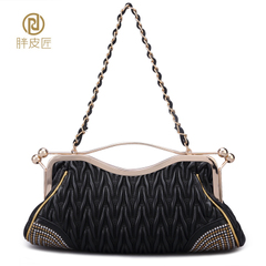 Fat Cobblers 2015 new bride cosmetic bag clutch bag evening bag night club wedding baodan shoulder bag latch Pack