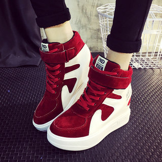 2015 winter season new style shoes with high increases in cotton and cashmere increased in Korean fashion shoes leisure shoes