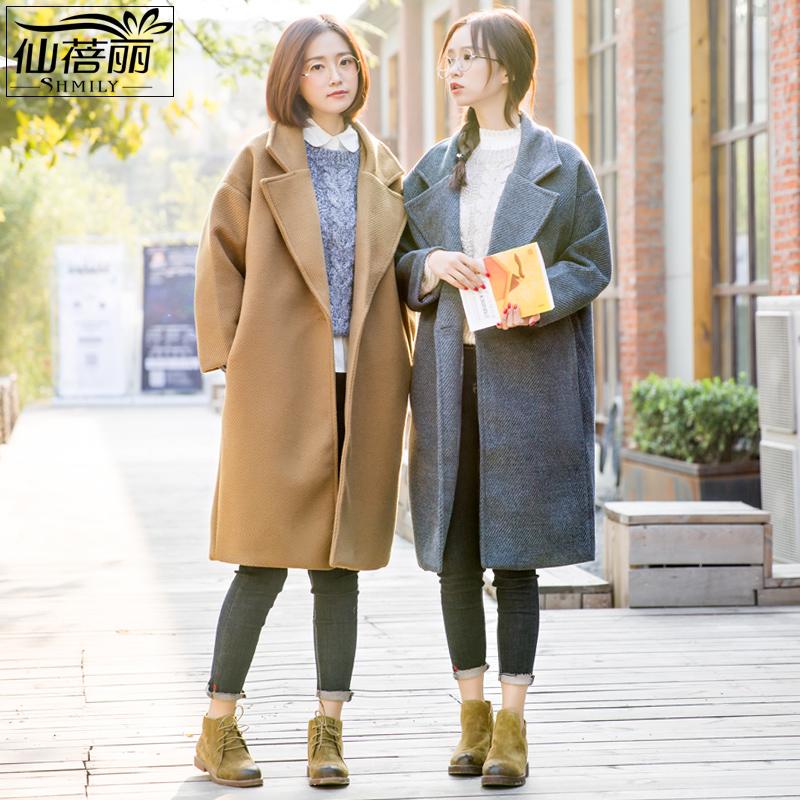 毛呢外套女秋冬2018新款中长款韩版宽松呢子大衣