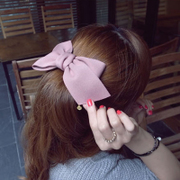 New Korea pink bow make a King size flower pony tail clip top clip spring clip Chuck accessories hair accessories girls