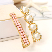 Know Connie hair accessories Korean sweet temperament bang Pearl rhinestone-encrusted hair clip hairpin clip Duckbill clip head ornaments