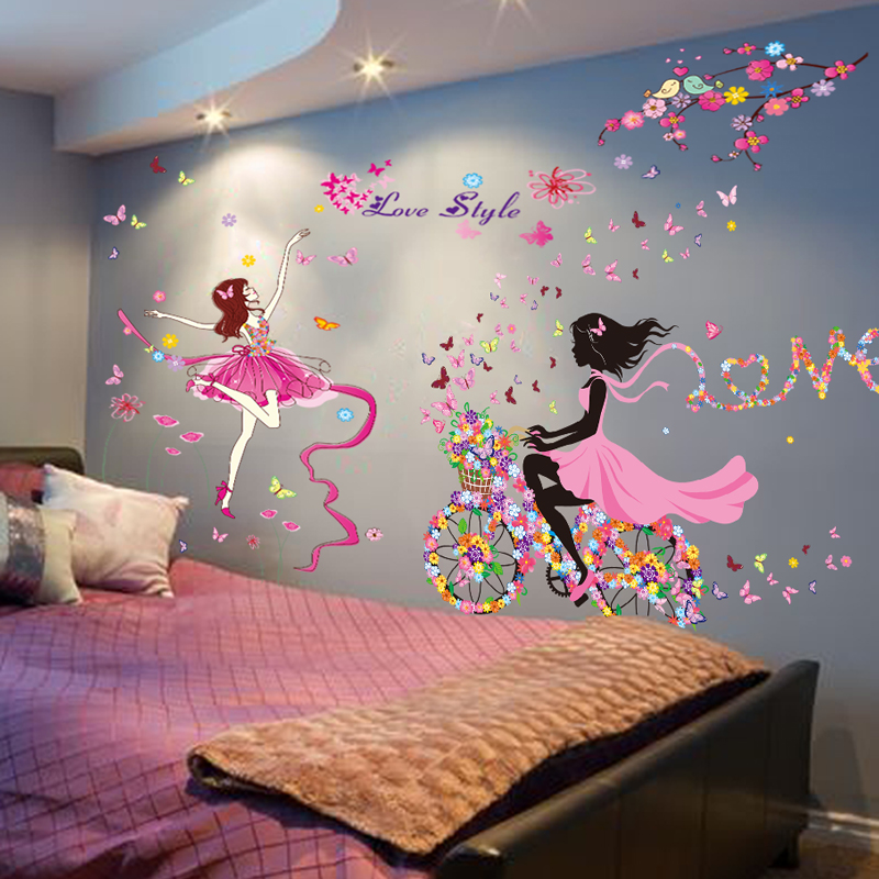 Self adhesive wallpaper dormitory bedroom warm wall for Wallpaper home goods