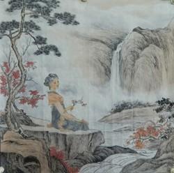 手绘仿古人物画 国画