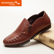 Red Dragonfly new genuine leather men's shoes autumn leisure set foot handmade shoes men's shoes shoes