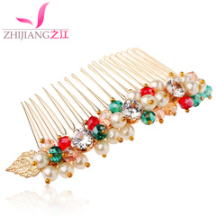 Zhijiang plug comb comb Pearl Korea rhinestone hairpin hair into bangs hair hair hair accessories hair comb hair comb