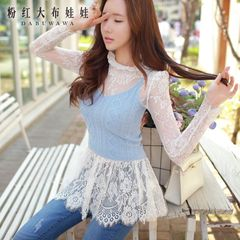 Big Pink doll 2015 coarse knit autumn new Joker Joker slimming vest sweater