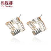 Mail ya-na Korean crystal earrings European fashion earrings fashion earrings earrings