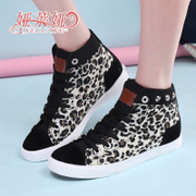 Yalaiya 2015 new style canvas shoes women's Leopard-print flat woman high shoes Korean students ' shoes Korean wave