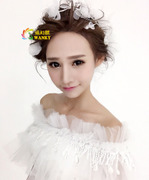 Shi Huanqi H469 bridal tiaras wedding dress accessories for high-end hand-yarn silk small fresh flower decorations