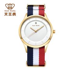 天王表情侣尼龙带手表大表盘男表女士表时尚潮流学生石英表3797