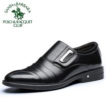 圣大保罗男士皮鞋春季新款真皮鞋子英伦风商务休闲鞋厚底男士潮鞋