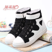 Fall 2015 higher helping canvas women's casual shoe breathable sports students shoe stitching color surge shoes