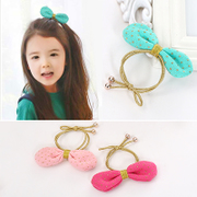 Know Richie children''s hair accessories Korean knitted rabbit ears hair band hair baby hair loop hair rope girls head jewelry