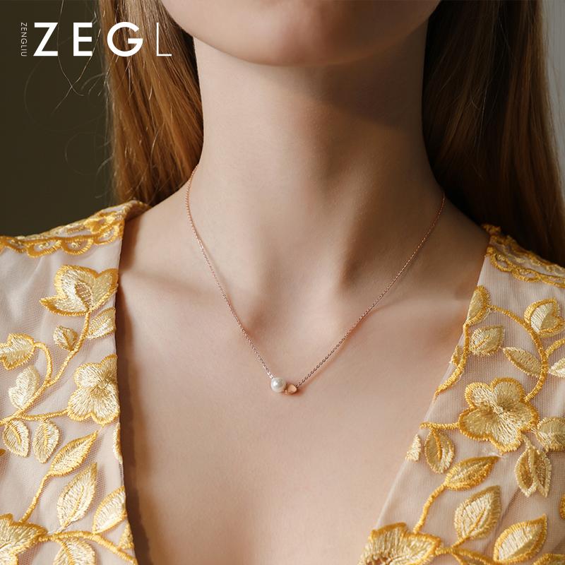 ZENGLIU项链女韩版简约个性小众锁骨链潮网红ins爱心吊坠轻奢饰品