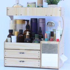 木制桌面化妆品收纳盒化妆品整理盒抽屉式置物架大号梳妆台收纳架