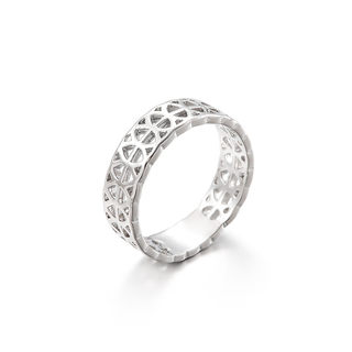 Love jewellery geometric openwork silver ring women fashion wide ring ring ring joint package mail