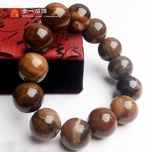 天然辽西树化玉手串珠子植物木化石舍利硅化木手链转运珠子精品图片